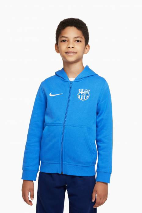 Mikina Nike FC Barcelona 21/22 NSW Hoodie Club FZ Junior