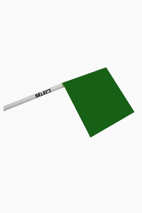 Zestaw Select kij narożny giętki, chorągiewka zielony