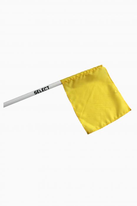 soubor select rohová tyč, vlajka žlutá