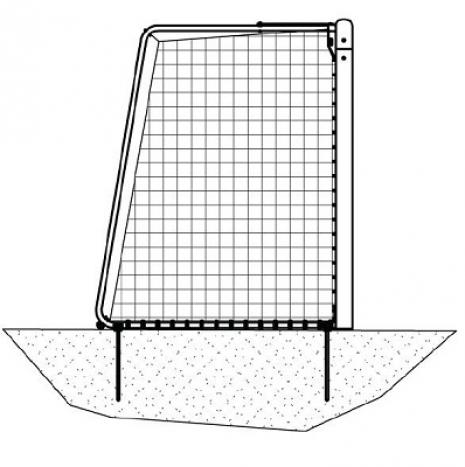 Bramka Interplastic 5x2 m typ 3 (przenośna) 00001