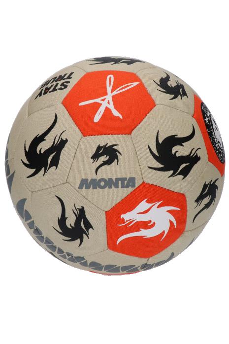 Lopta Monta Freestyler 2019 Beige/Orange veľkosť 4.5