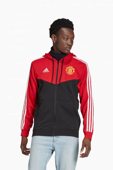 Mikina adidas Manchester United 3-STRIPES FZ Hoodie