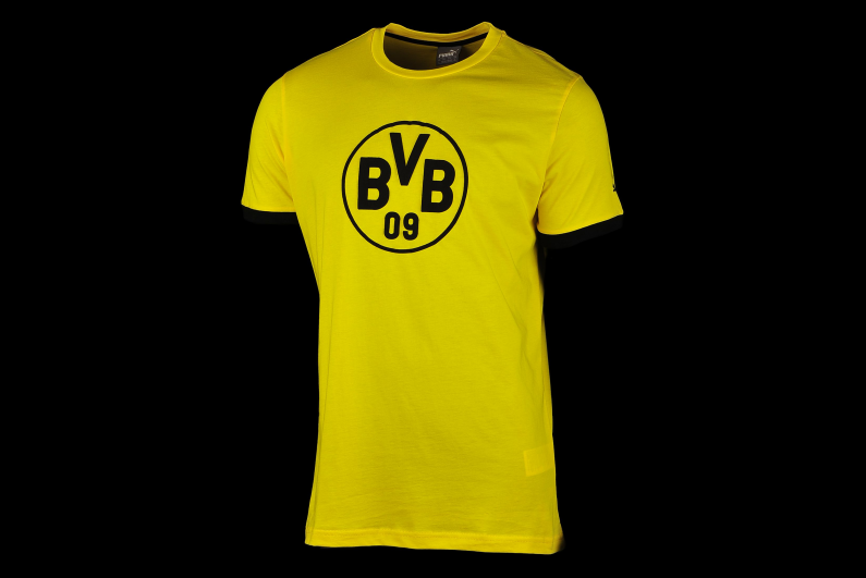 BVB 09 Borussia Dortmund Puma Herren Badge Logo T-Shirt 750122-01 Größe S