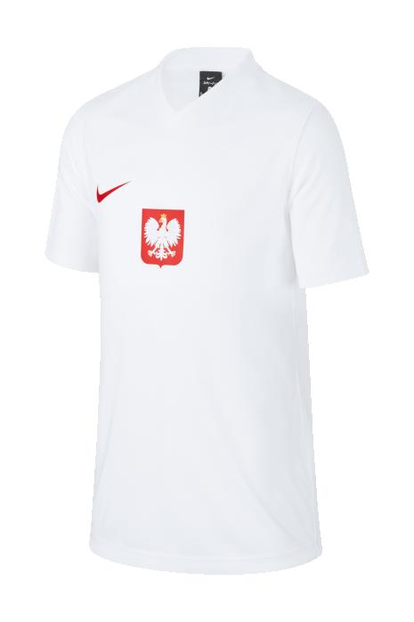 Koszulka Nike Polska Breathe Football Top Domowa Junior 2020