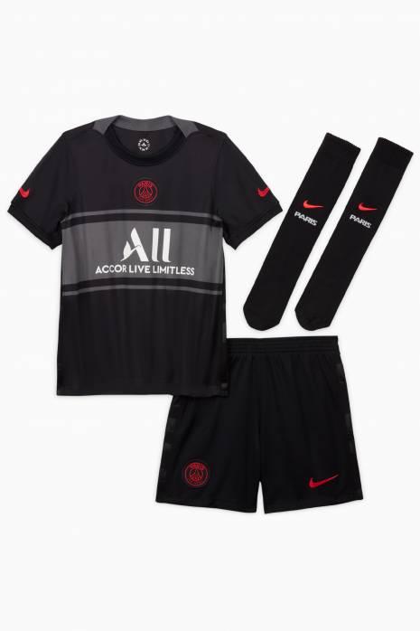 Fotbalový set Nike PSG 21/22 třetí malé děti