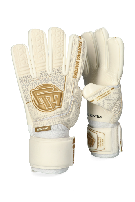 Mănuși Football Masters Football Masters Voltage White Gold Contact Grip 4 MM NC V 3.0