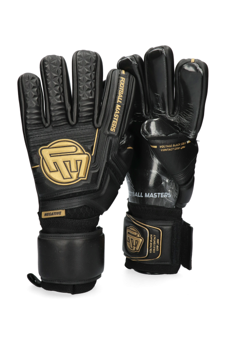 Mănuși de portar Football Masters Voltage Black Gold Contact Grip 4 MM NC v 3.0
