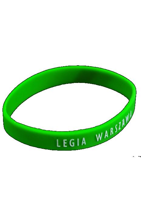 Bransoletka gumowa Legia zielona