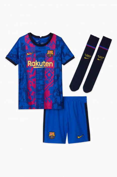 Komplet Nike FC Barcelona 21/22 Trzeci Małe Dzieci