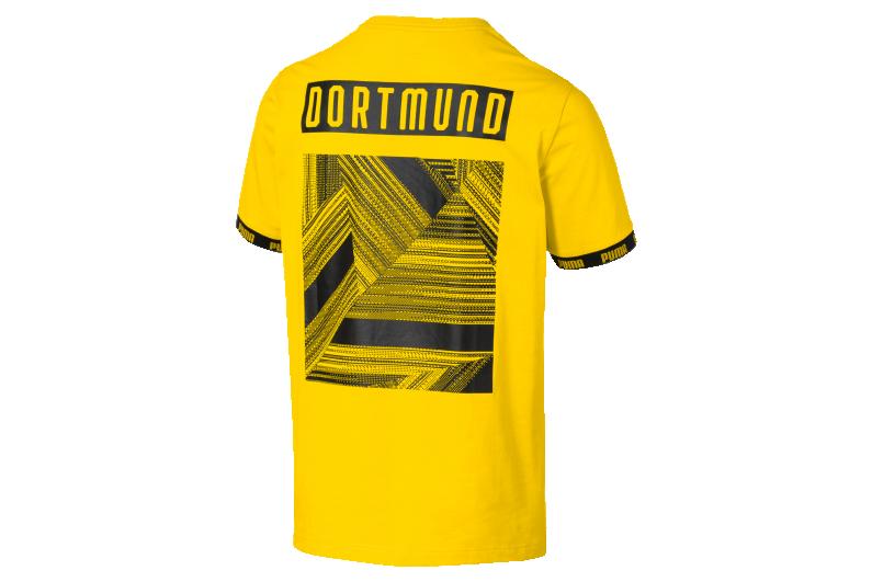 T Shirt Puma Borussia Dortmund Ftblculture Tee 755787 01 R Gol Com Football Boots Equipment