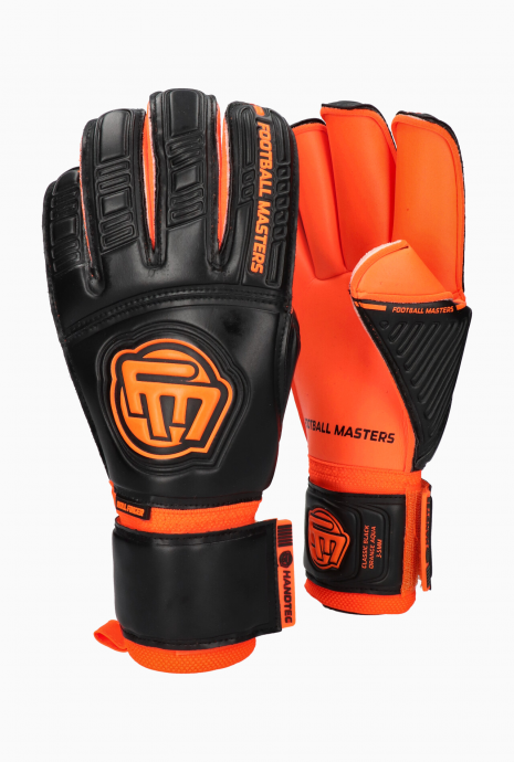 Brankárske rukavice Football Masters Classic Black Orange Aqua Grip RF v3.3