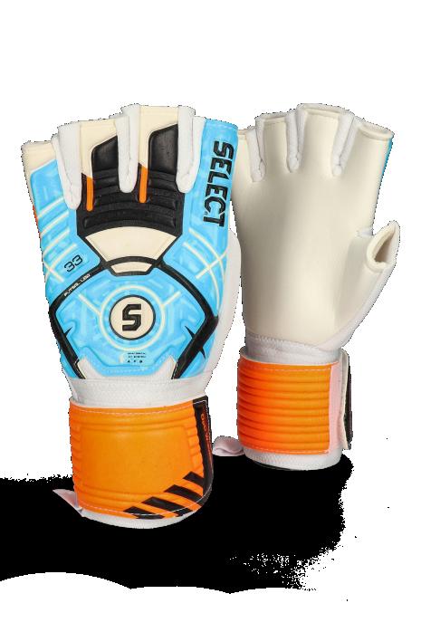 Brankářské rukavice Select 33 Futsal Liga sky blue/black/white
