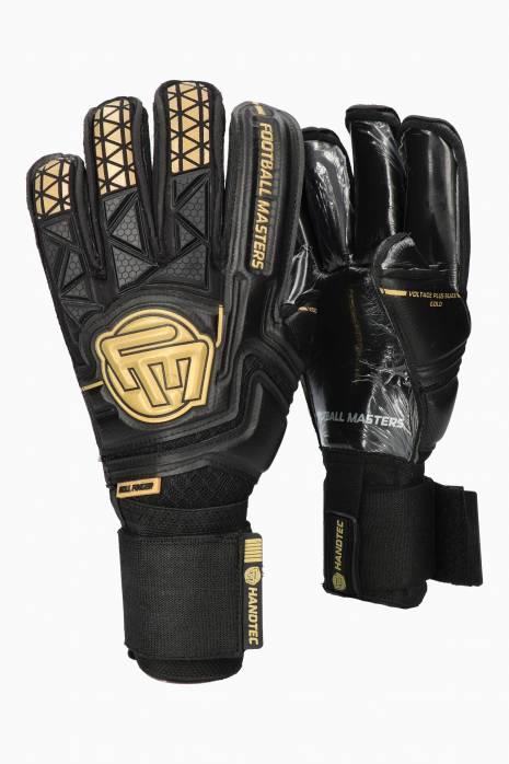Brankářské rukavice Football Masters VOLTAGE PLUS BLACK GOLD RF v 4.0