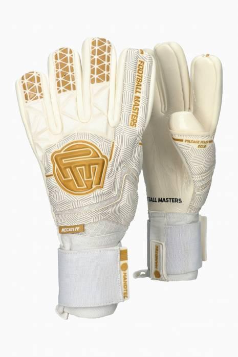 Brankářské rukavice Football Masters VOLTAGE PLUS WHITE GOLD NC v 4.0