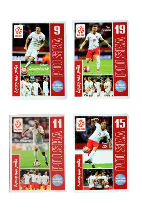 Zeszyt A5 32 kartek reprezentacji Polski + naklejki