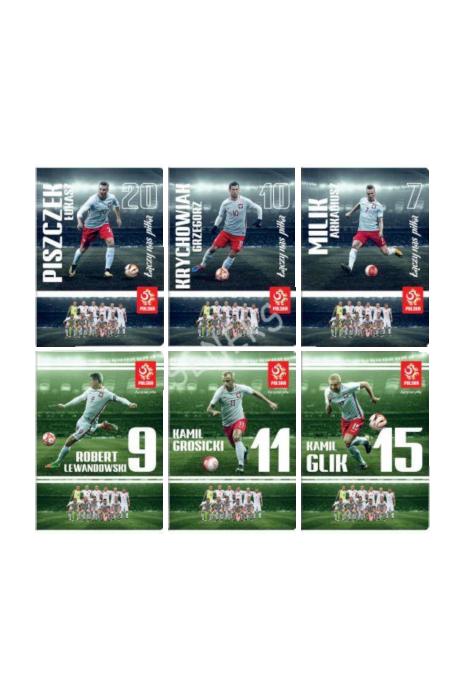 Zeszyt A5 60 kartek reprezentacji Polski Metallic
