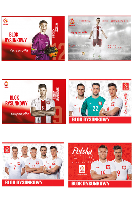 Blok rysunkowy A4 20 kartek reprezentacji Polski