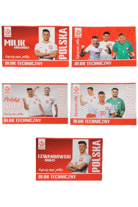 Blok techniczny A4 10 kartek reprezentacji Polski