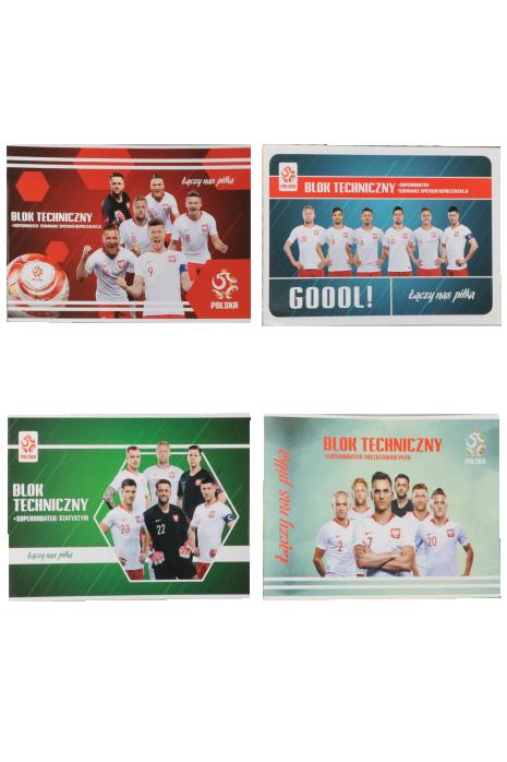 Blok techniczny A4 10 kartek + Dodatek Kibica reprezentacji Polski