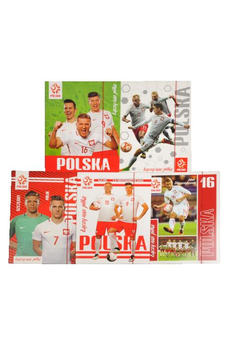 Teczka z gumką A4+Lux UV reprezentacji Polski