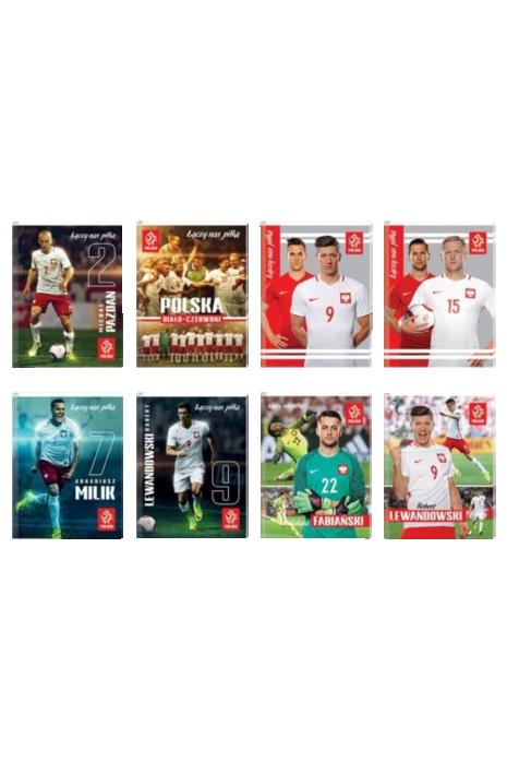 Brulion A6 96 kartek reprezentacji Polski