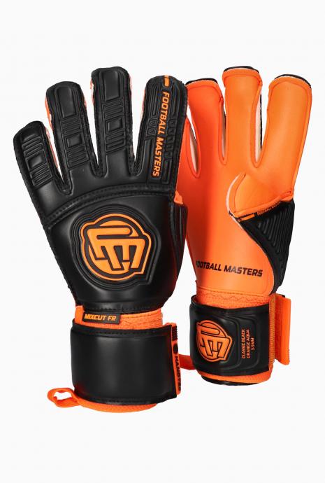Brankárske rukavice Football Masters Classic Black Orange Aqua Grip Mixcut v3.3