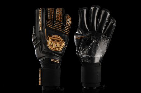 Mănuși Football Masters Voltage Plus Black Gold Contact Grip 4 MM RF V 3.0