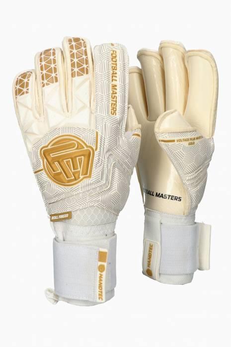 Brankářské rukavice Football Masters VOLTAGE PLUS WHITE GOLD RF v 4.0