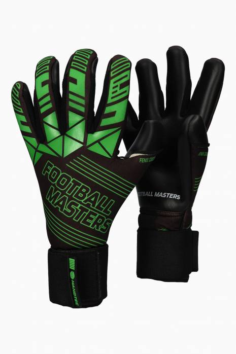 Brankářské rukavice Football Masters FENIX GREEN Junior