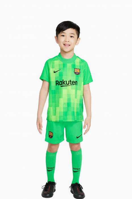 Futbalová súprava Nike FC Barcelona 2021/22 Breathe Goalkeeper Little Kids