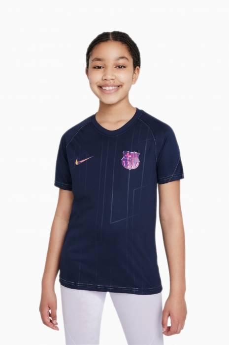 Tričko Nike FC Barcelona 21/22 BREATHE TOP PREMATCH Hostia Junior