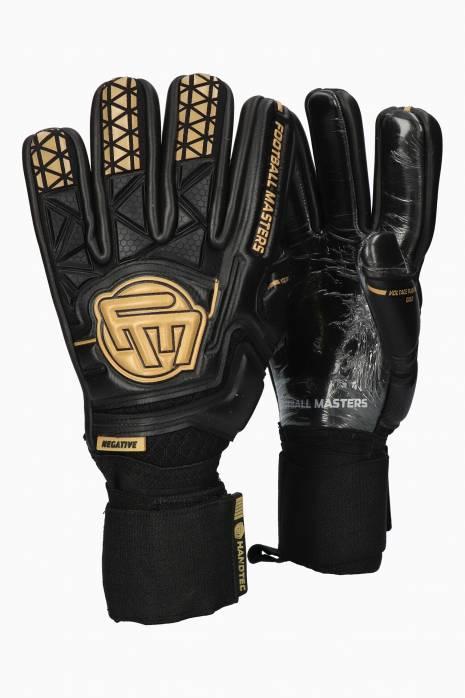 Brankářské rukavice Football Masters VOLTAGE PLUS BLACK GOLD NC v 4.0 Junior
