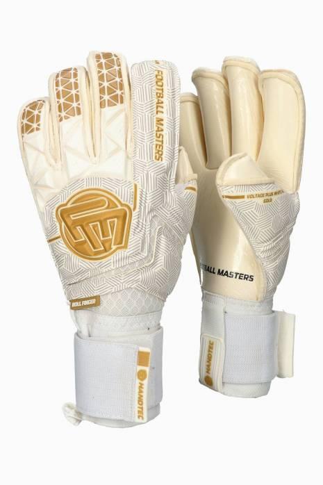 Brankářské rukavice Football Masters VOLTAGE PLUS WHITE GOLD RF v 4.0 Junior